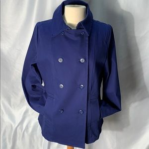 Twiggy London Blue Cotton Coat with Buttons